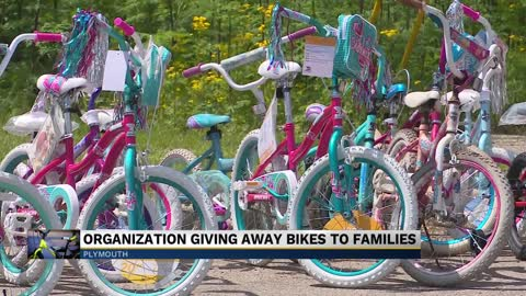 Free bikes, lunch given to over 100 kids